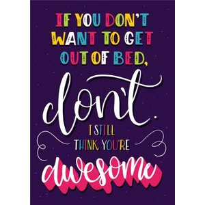 I Still Think You're Awesome Personalised Greetings Card, Giant Size By Moonpig Sku016