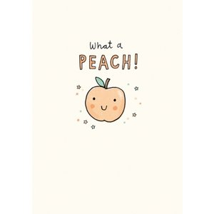 Illustrated What A Peach Thank You Card, Giant Size By Moonpig Jes008