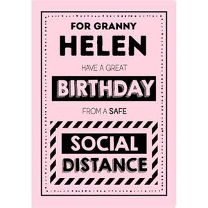 Jam And Toast Safe Social Distance Birthday Card For Granny, Standard Size By Moonpig Jat045 St