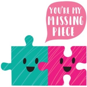 Jigsaw Puzzle You're My Missing Piece Anniversary Card, Giant Size By Moonpig Mem005