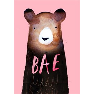 Jolly Awesome Bae Bear Card, Large Size By Moonpig Jol007 Lg