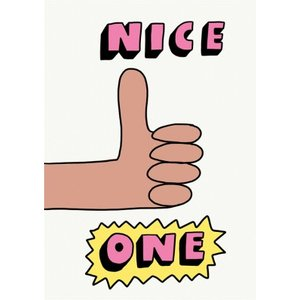Jolly Awesome Nice One Thank You Card, Giant Size By Moonpig Jol084