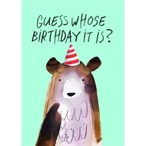 Jolly Awesome Party Bear Birthday Card, Large Size By Moonpig Jol009 Lg