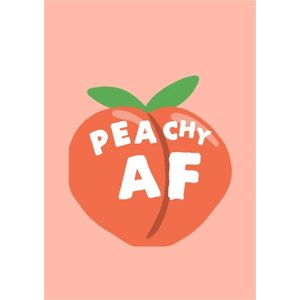 Jolly Awesome Peachy Af Funny Card, Standard Size By Moonpig Jol144 St