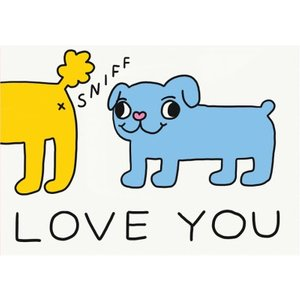 Jolly Awesome Sniff Love You Funny Card, Large Size By Moonpig Jol147 Lg