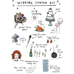 Jolly Awesome Wedding Starter Kit Card, Large Size By Moonpig Jol023 Lg