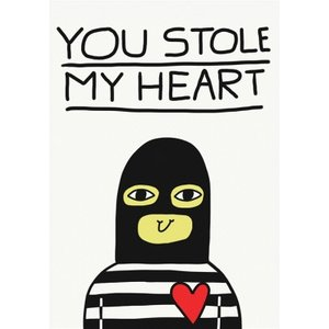 Jolly Awesome You Stole My Heart Card, Giant Size By Moonpig Jol081