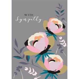 Laura Darrington Floral Illustrated Sympathy Card, Standard Size By Moonpig Ldg006 St
