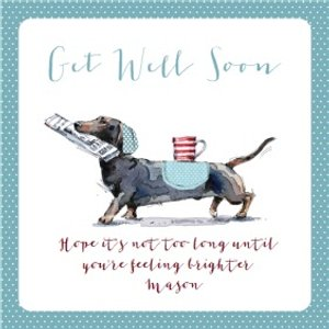Ling Design - Get Well Soon Card, Large Square Card Size By Moonpig Ld560 Sq Lg