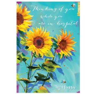 Ling Design - Get Well Soon Card Thinking Of You, Giant Size By Moonpig Ld568
