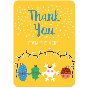 Little Acorns Cute Christmas Thank You Card, Standard Size By Moonpig Lac019 St