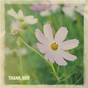 Little Flower Personalised Thank You Card, Large Square Card Size By Moonpig Ohs010 Lg