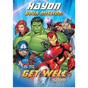 Marvel Avengers Get Well Soon Card - Avengers, Giant Size By Moonpig Av029