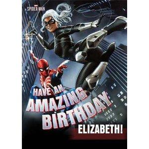 Marvel Spiderman Gamerverse Black Cat Birthday Card, Standard Size By Moonpig Sgv003 St