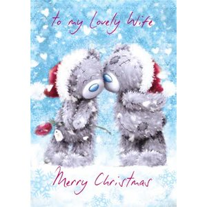 Me To You Tatty Teddy My Lovely Wife Christmas Card, Standard Size By Moonpig Mtu029 St