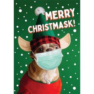 Merry Christmark Dog Elf Christmas Card, Giant Size By Moonpig Fotm001