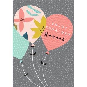 Modern Balloons Birthday Card, Large Size By Moonpig Ldh006 Lg
