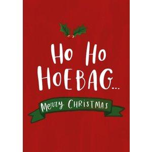 Modern Fun Illustration Ho Hoebag Christmas Card, Standard Size By Moonpig Luc056 St