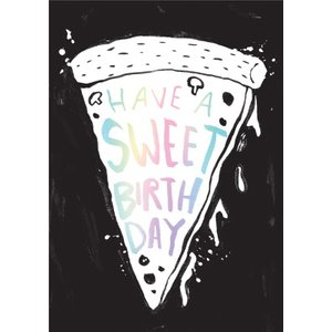 Modern Pizza Have A Sweet Birthday Card, Large Size By Moonpig Ohh004 Lg