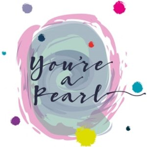 Modern Watercolour Paint Effect You're A Pearl Thank You Card, Giant Size By Moonpig Papg080