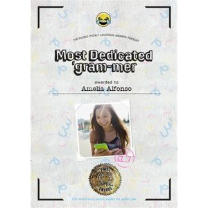 Most Dedicated Gram-mer Certificate Personalised Birthday Card, Standard Size By Moonpig Pms001 St