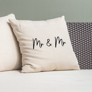 Mr & Canvas Cushion Cover Gift Set By Moonpig - Delivery Available Home263