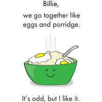 Moonpig Objectables Go Together Like Eggs On Porridge Funny Birthday Card, Standard Size By Moonpi Obj017 St
