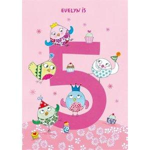 Owls 5th Birthday Card, Standard Size By Moonpig Jek006 St