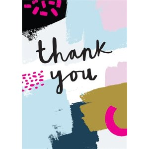 Paint Thank You Card, Large Size By Moonpig Na024 Lg