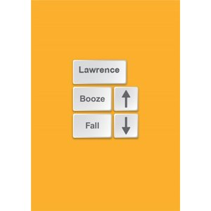 Personalised Keyboard Letters Booze And Fall Birthday Card, Standard Size By Moonpig Esy003 St