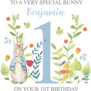 Peter Rabbit Special Bunny 1st Birthday Card, Square Card Size By Moonpig Bx074 Sq Sq