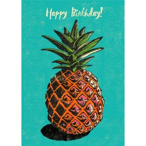 Pineapple Happy Birthday Card, Standard Size By Moonpig Rks025 St