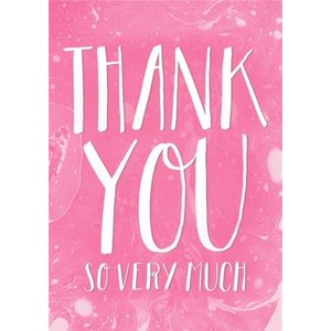 Pink And White Wash Personalised Thank You Card, Large Size By Moonpig Ljb013 Lg