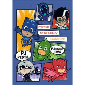 Pj Masks Its Time To Be A Hero Birthday Card, Standard Size By Moonpig Epj002 St