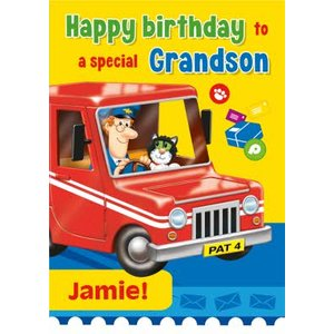 Postman Pat To A Special Grandson Birthday Card, Large Size By Moonpig Pst006 Lg