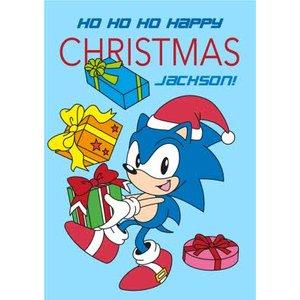 Sega Sonic Ho Happy Christmas Card, Giant Size By Moonpig Son024