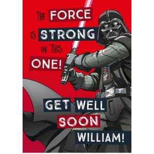Star Wars Get Well Soon Card , Standard Size By Moonpig Swr138 St