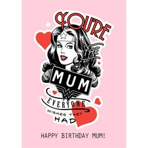Super Mum Superhero Wonder Woman Birthday Card, Standard Size By Moonpig Won015 St