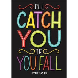 Sweet Modern Empathy Card I'll Catch You If Fall, Large Size By Moonpig Tmm001 Lg