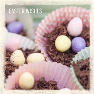 Sweet Treats Easter Wishes Card, Large Square Card Size By Moonpig Ohs037 Lg