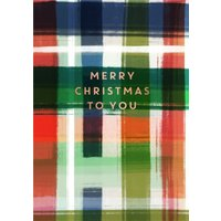 Tartan Watercolour Christmas Card, Giant Size By Moonpig Mkm002