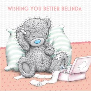 Moonpig Tatty Teddy First Aid Kit Personalised Get Well Soon Card, Large Square Card Size By Moonp Mtu102 Lg