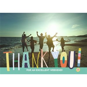 Thank You Card - Graphic Typographic Photo Upload, Large Size By Moonpig Pty016 Lg
