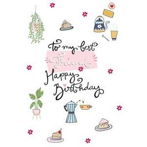 To My Best Friend Happy Birthday Card, Large Size By Moonpig Fsu001 Lg