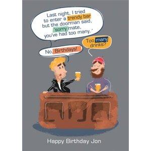 Too Many Birthdays Birthday Card, Standard Size By Moonpig Ohb001 St