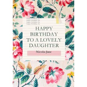 Moonpig V&a Fashion And Textiles Collection Lovely Daughter Floral Birthday Card, Large Size By Mo Vaa023 Lg