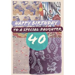 Moonpig V&a Fashion And Textiles Collection Traditional Special Daughter Birthday Card, Standard S Vaa026 St