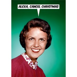 Voice Activation Funny Cancel Christmas Card, Standard Size By Moonpig Dnm084 St
