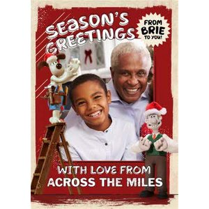Moonpig Wallace And Gromit Seasons Greetings Across The Miles Photo Upload Christmas Card, Large S Wag039 Lg
