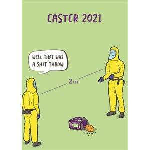 Moonpig Well That Was A Shit Throw Social Distancing Ppe Funny Easter Card, Standard Size By Moonp Bant120 St